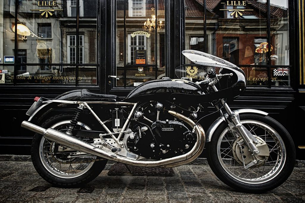 building a cafe racer Vincent motorcycles