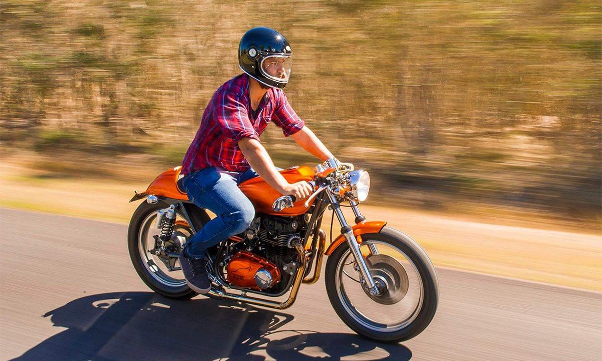 Kawasaki KZ400 cafe racer sly fox