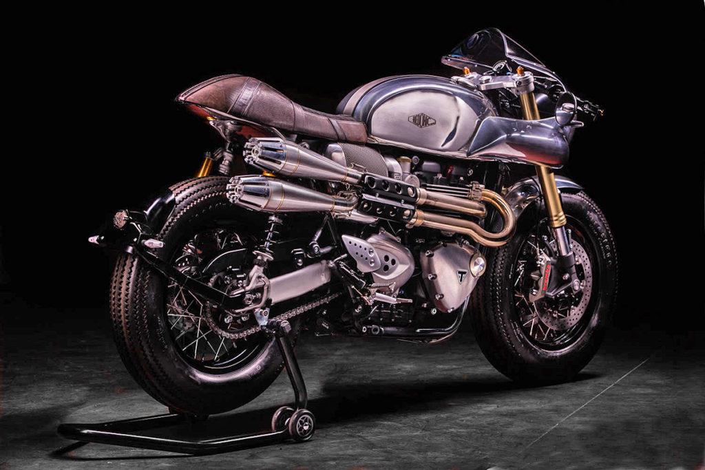 custom triumph thruxton r cafe racer