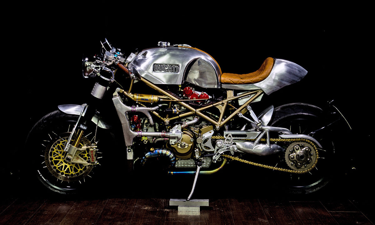 Ducati Monster custom cafe racer