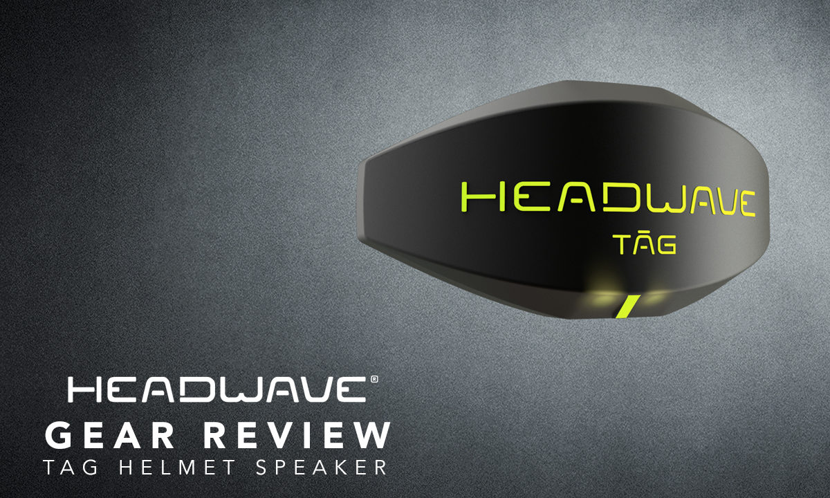 Headwave motorcycle helmet speaker