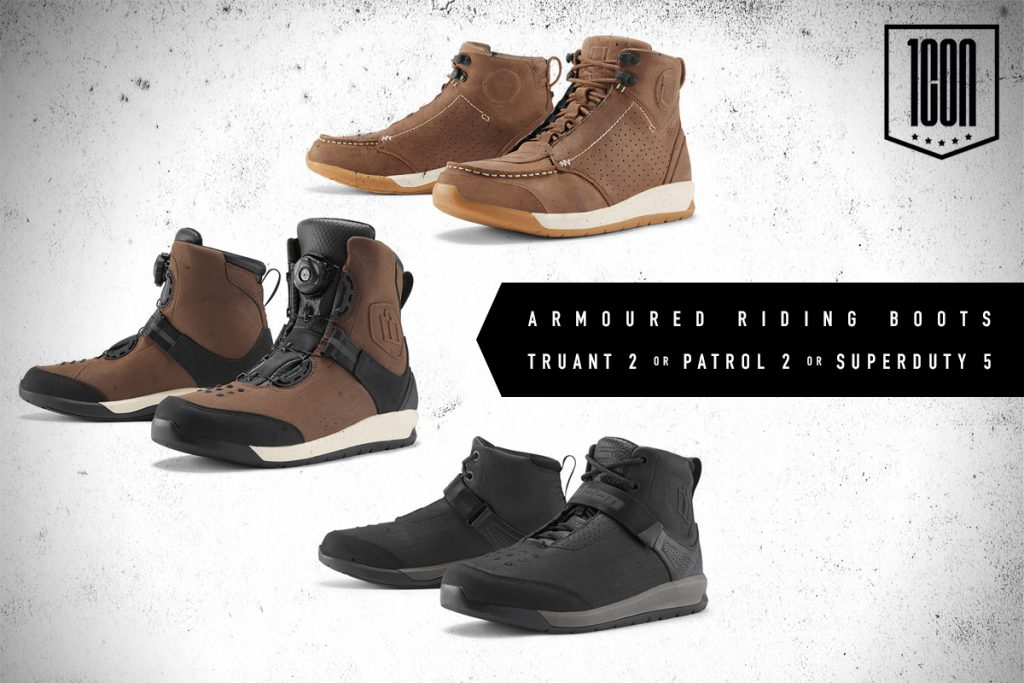 Icon motorcycle boot giveaway