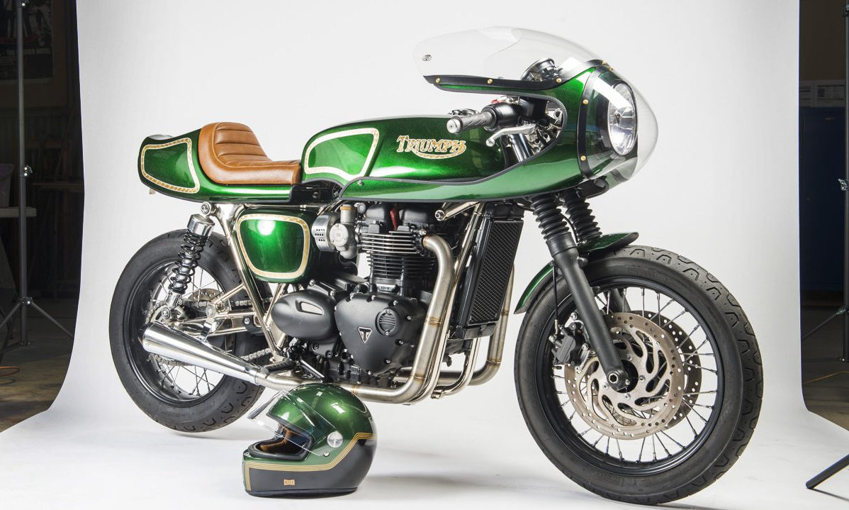 Triumph Bonneville T120 custom rickman