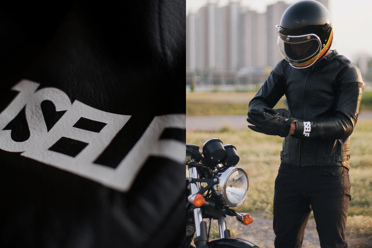 1SELF leather motorcycle jacket