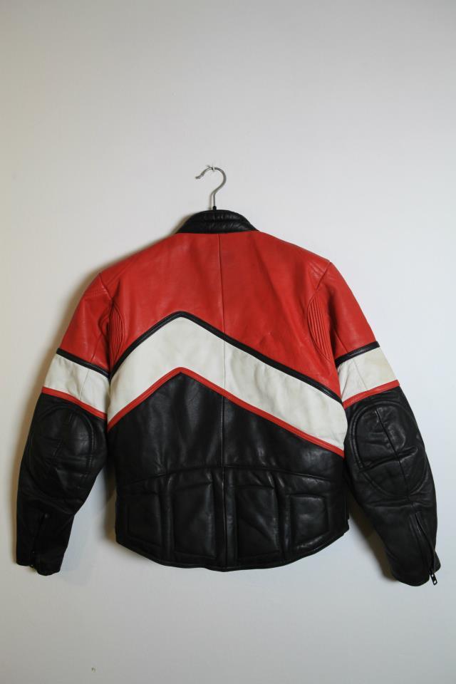 70s Vintage WOLF Leathers London Leather Biker Jacket  cafe racer England
