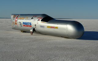 ck Attack streamliner from the U.S. Driver Sam Wheeler, speed 249 MPH