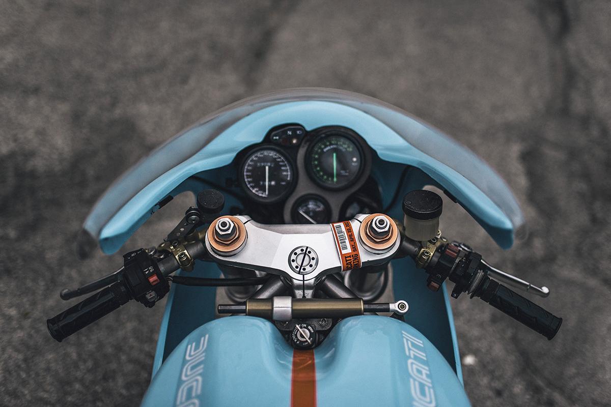 Ducati 748 custom gulf cafe racer