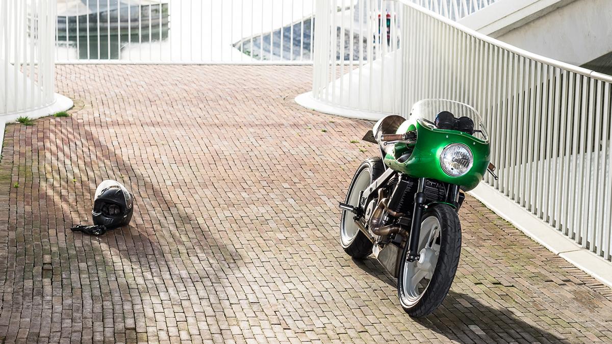Honda NTV650 cafe racer