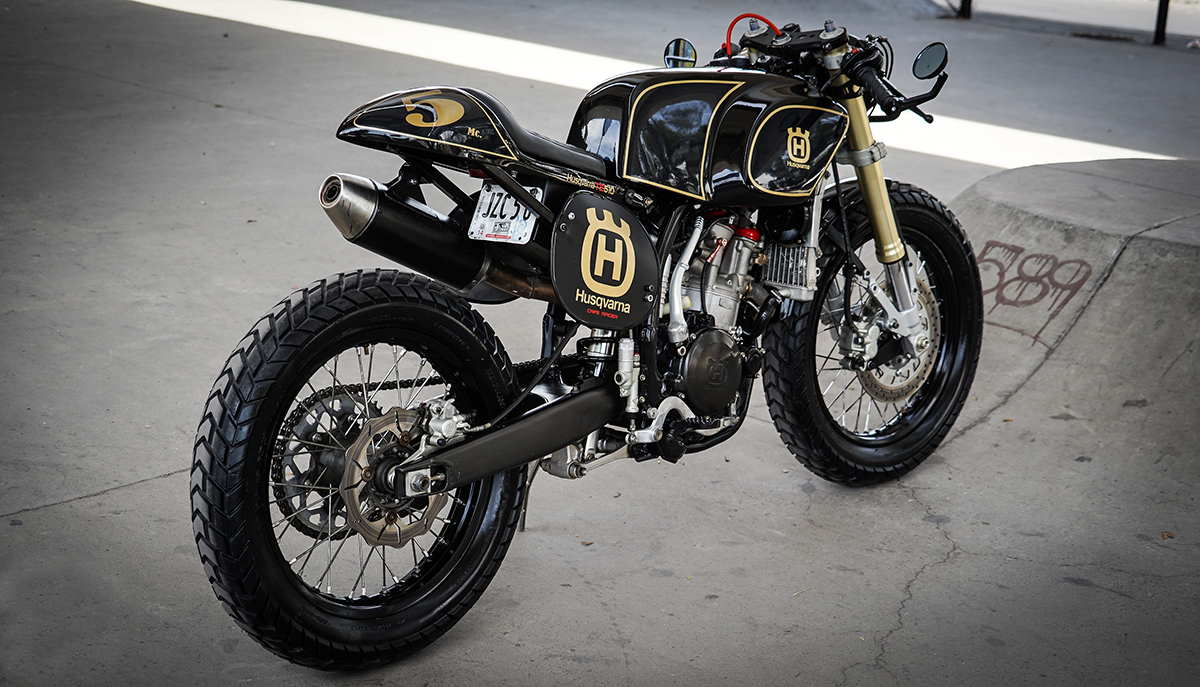 Husqvarna custom cafe racer