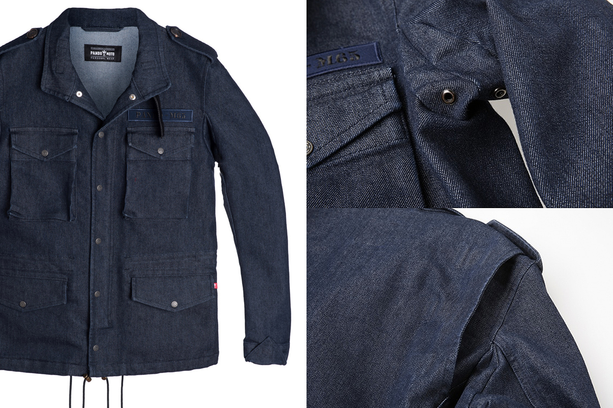 Pando M65 denim motorcycle jacket