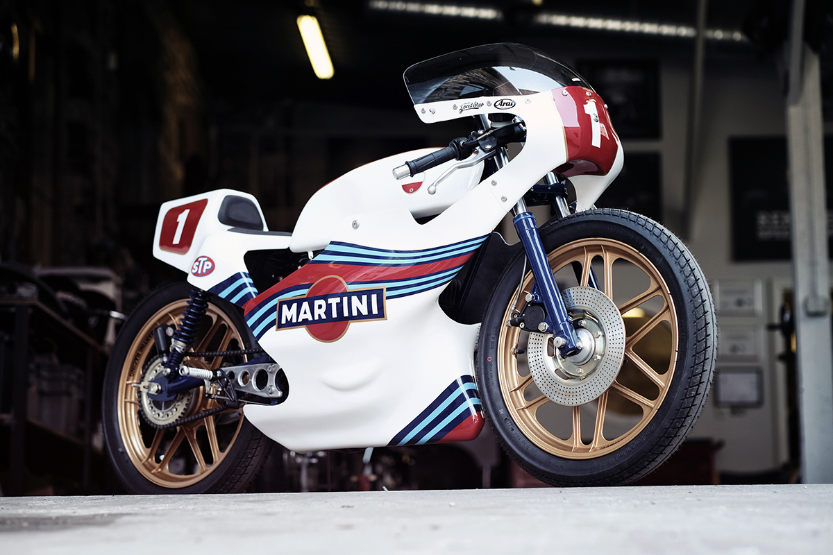 Renard Speedshop Martini racing motorcycle