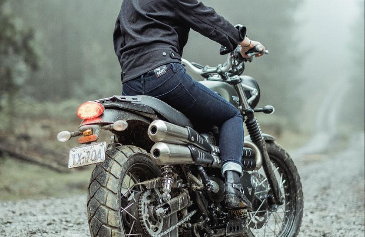 Saint stretch motorcycle denim jeans