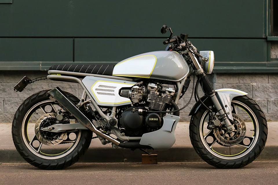 Yamaha XJ600 custom motorcycle