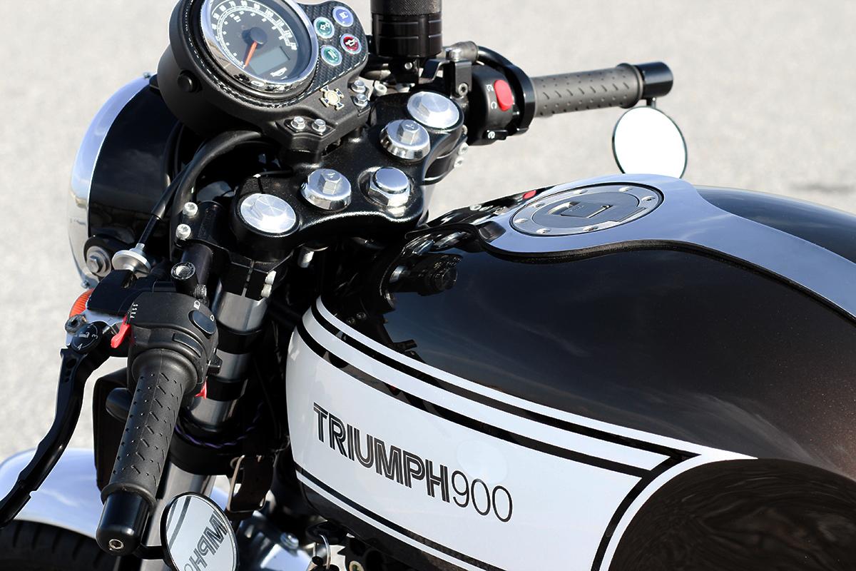 Triumph Bonneville cafe racer