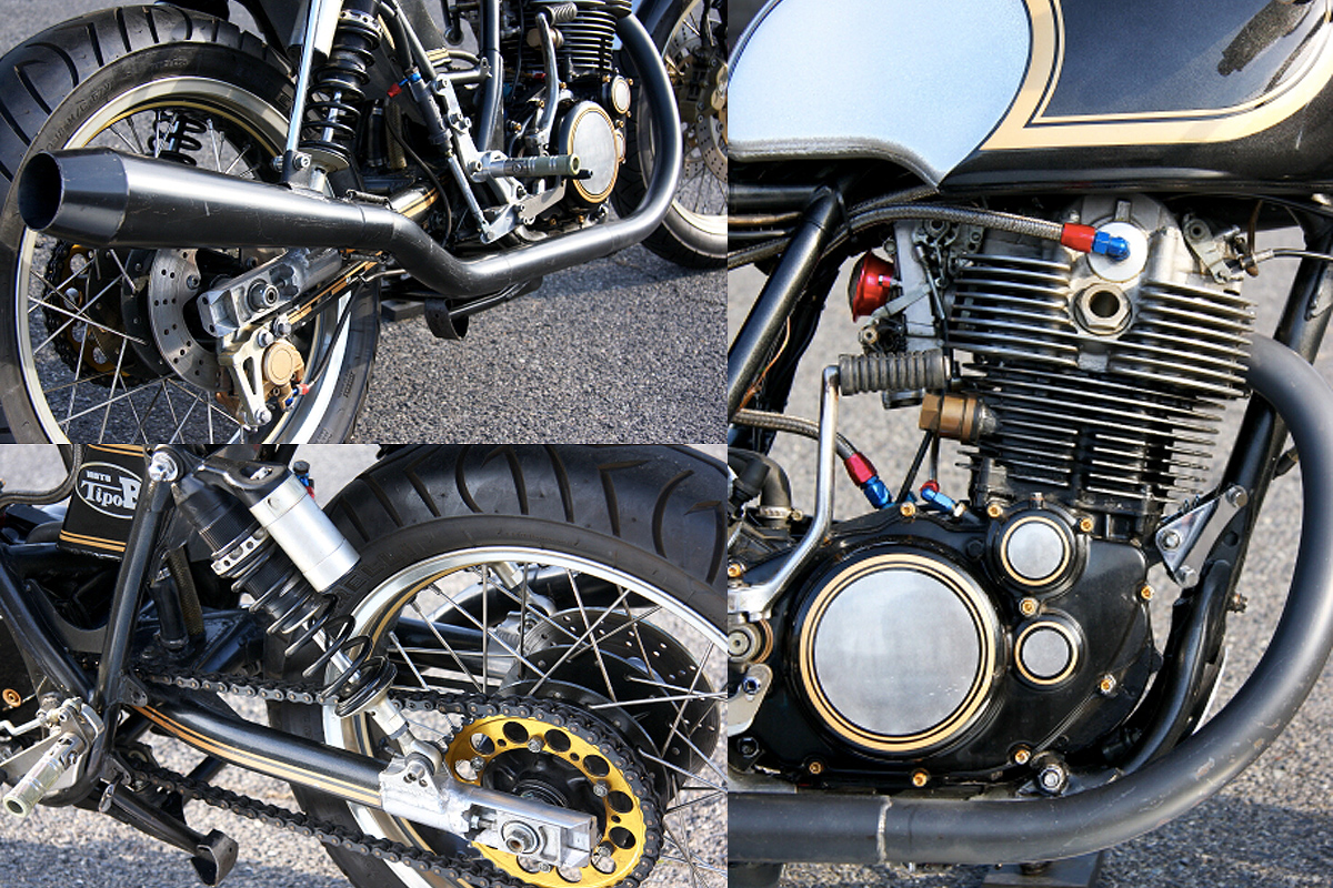 Japanese Yamaha SR400 Cafe Racer