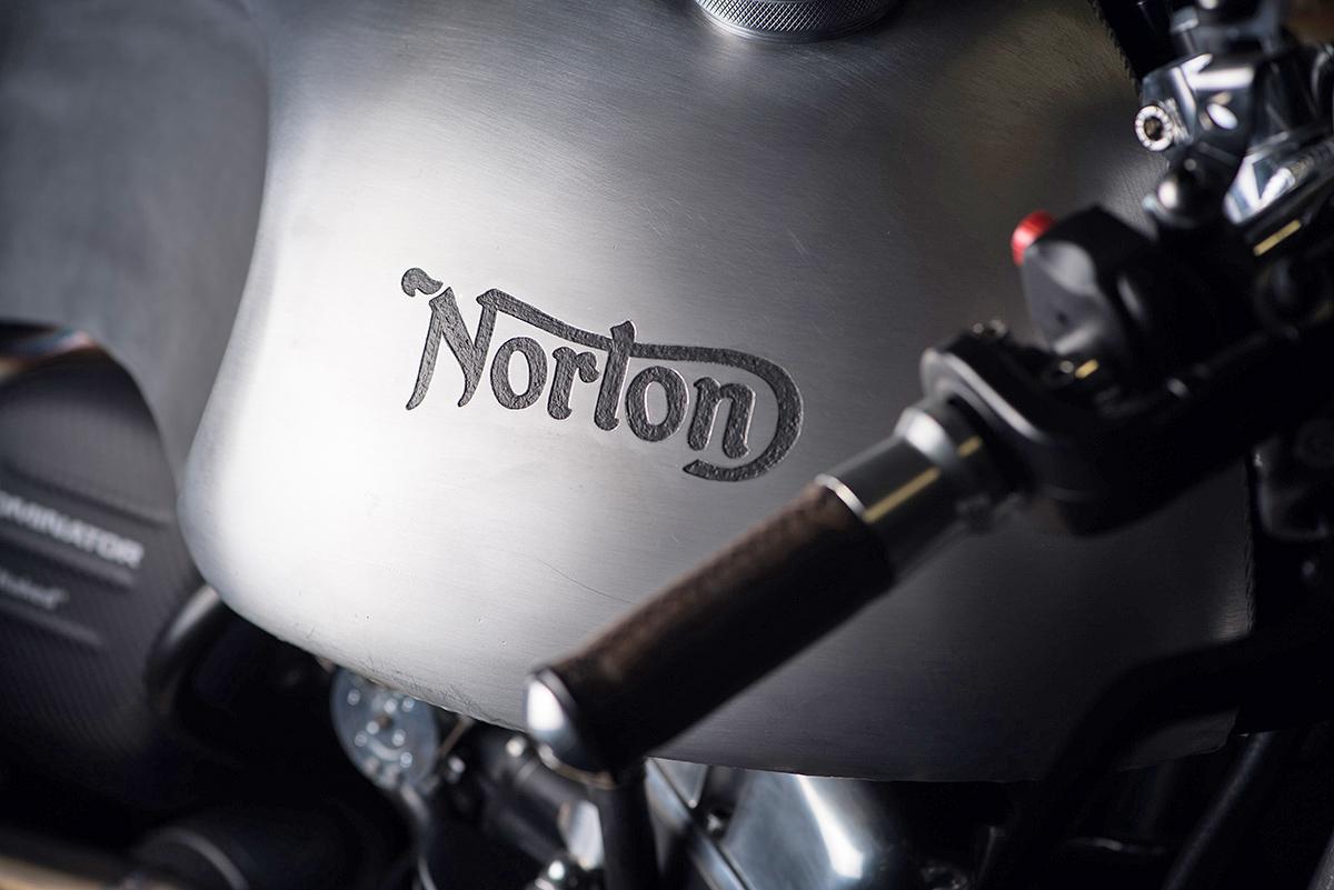 Norton Dominator cafe racer partridge design