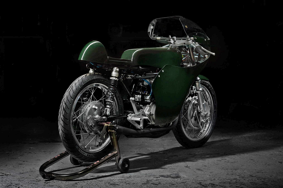Honda CB175 classic racer by Whitcraft Services