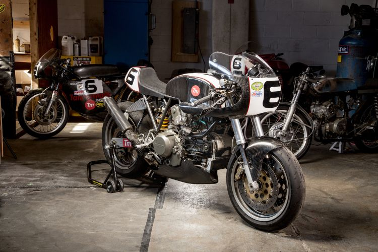 Tannermatic carbon bodied Ducati Monster race bike