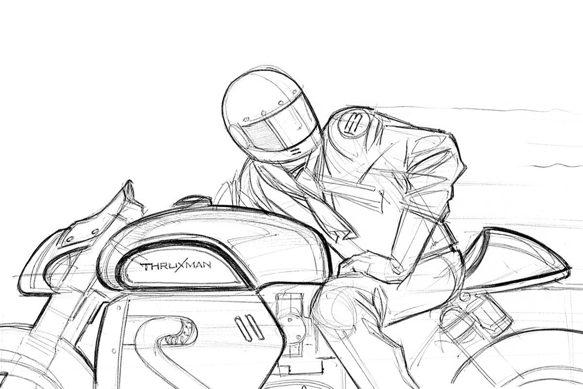 Triumph Thruxton R Manx cafe racer