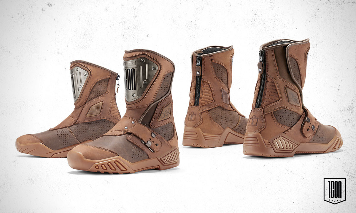 Icon Retrograde motorcycle boots