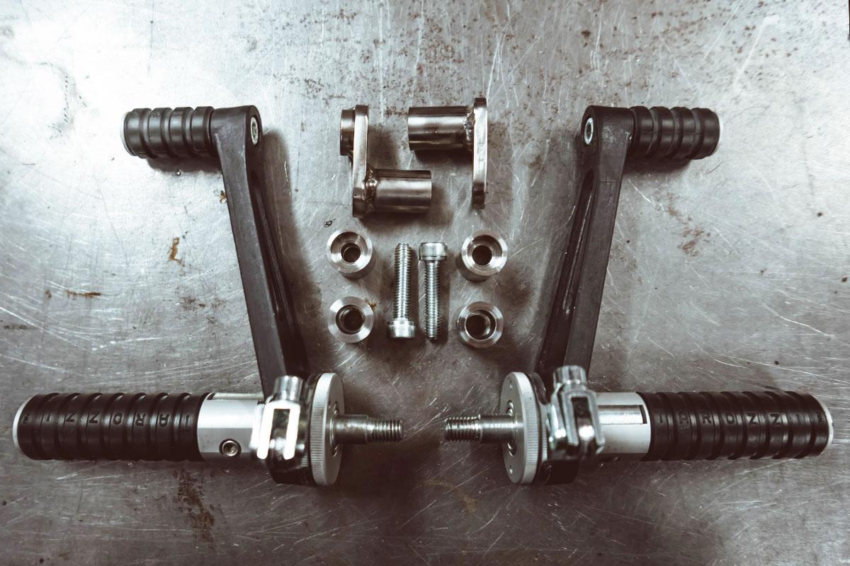 install rear set footpegs