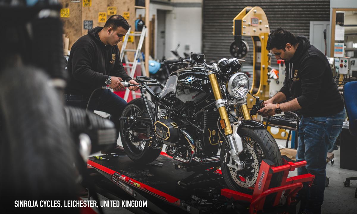 Custom motorcycle workshop map