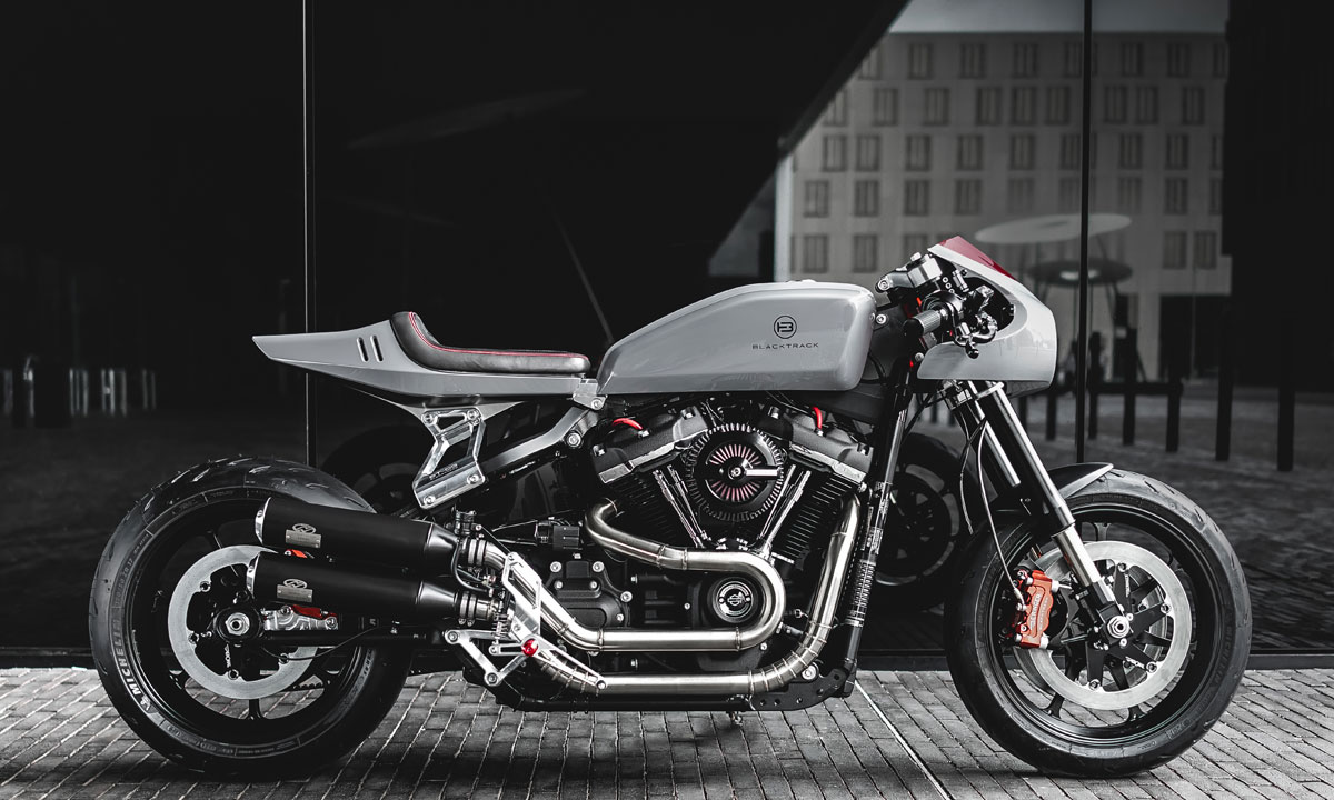 Harley fat bob cafe racer