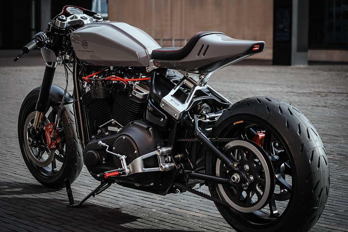 Harley fat bob cafe racer