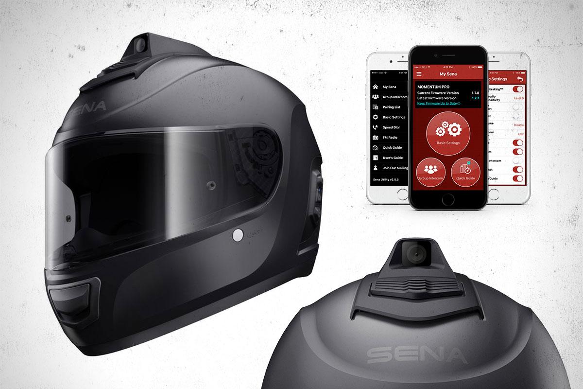 Sena Momentum camera helmet