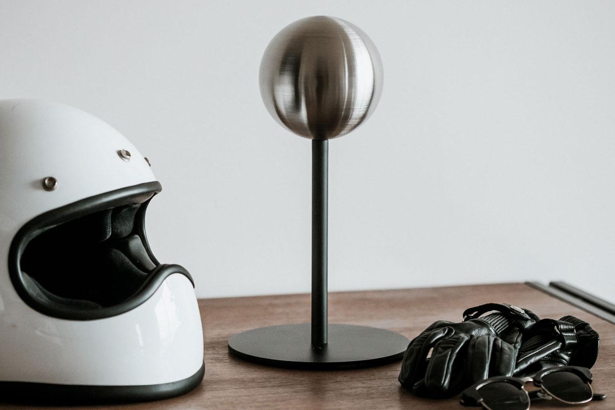 motorcycle helmet stand