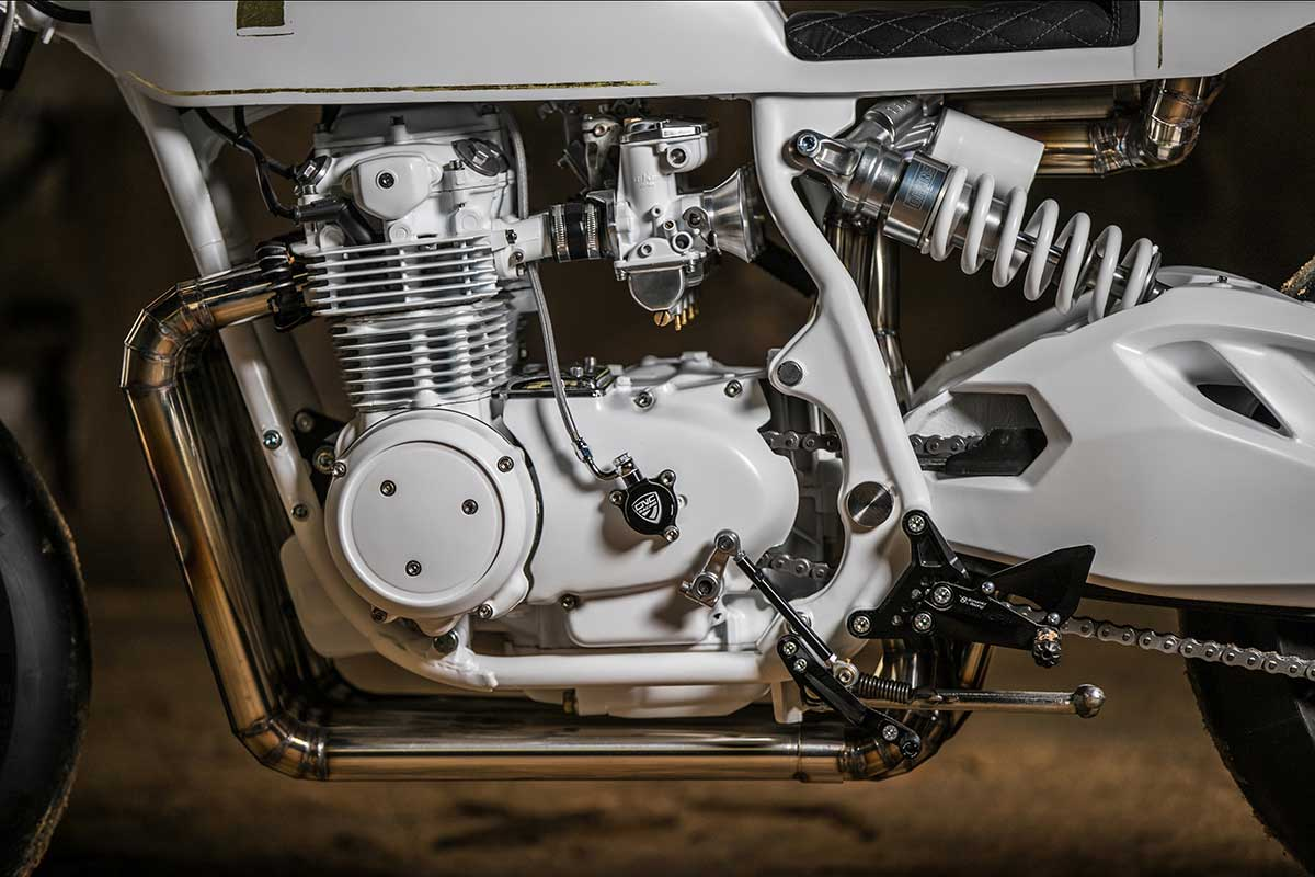 white honda cafe racer