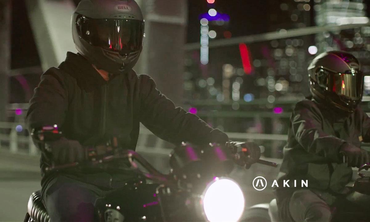 Akin motorcycle kevlar hoodie