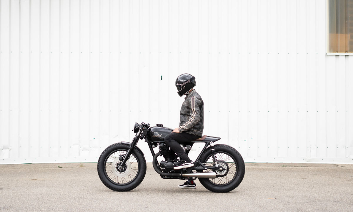 Crooked CB450 cafe racer