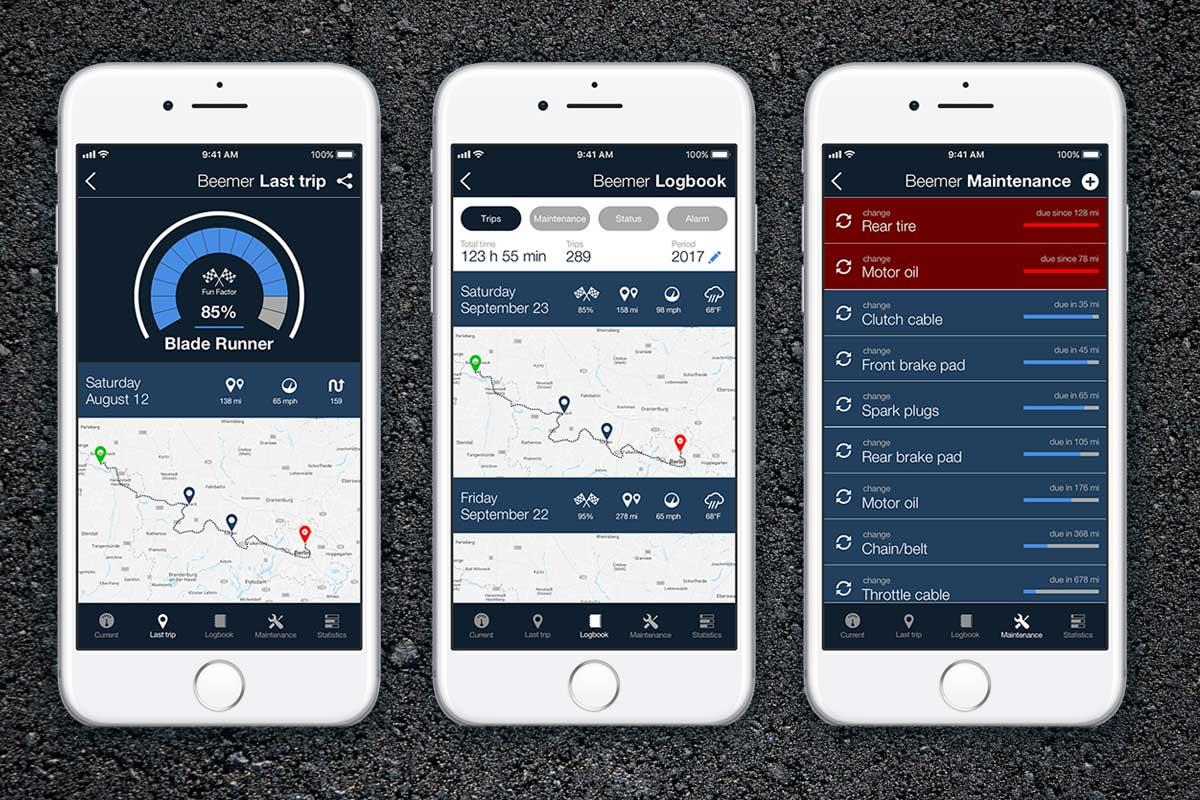 Motogadget M Ride App