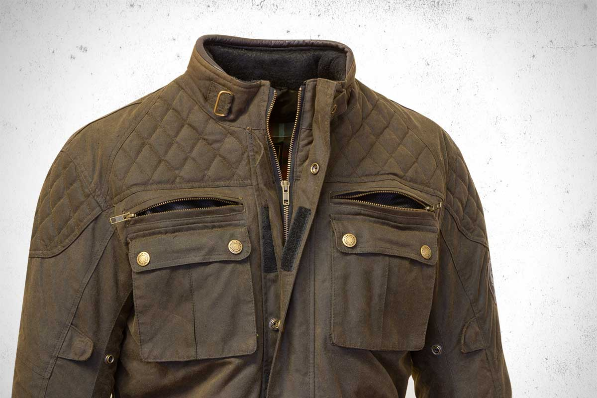 Merlin Yoxall waxed cotton jacket