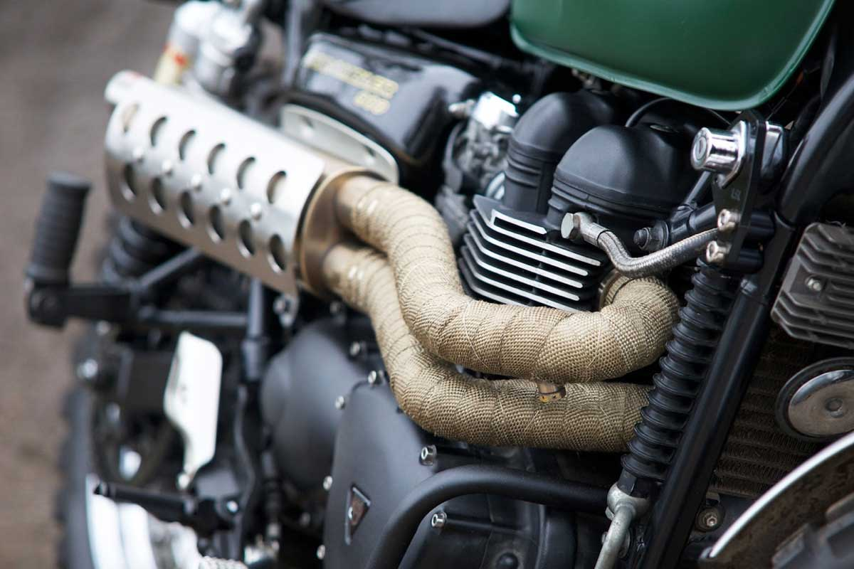 Cafe Racer pipe wrap
