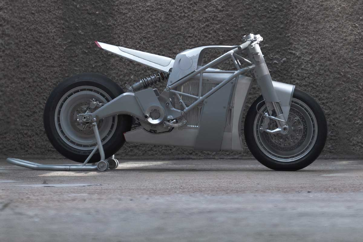 custom electric Zero motorcycle