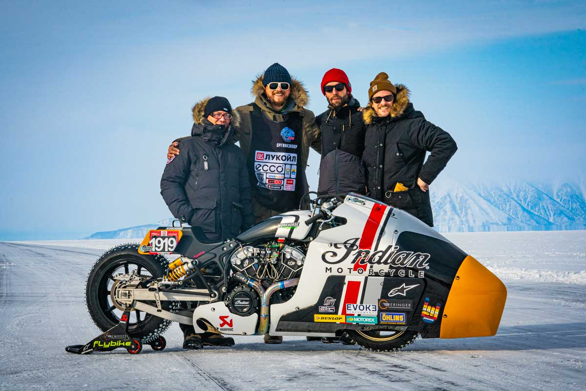 Workhorse Indian Scout ice racer