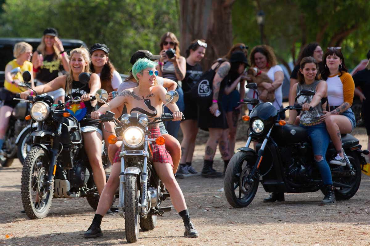 Women's motorcycle event