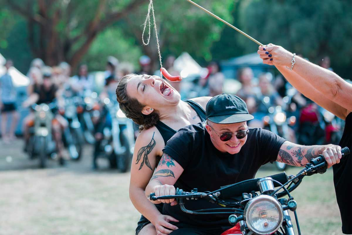 Women's motorcycle campout