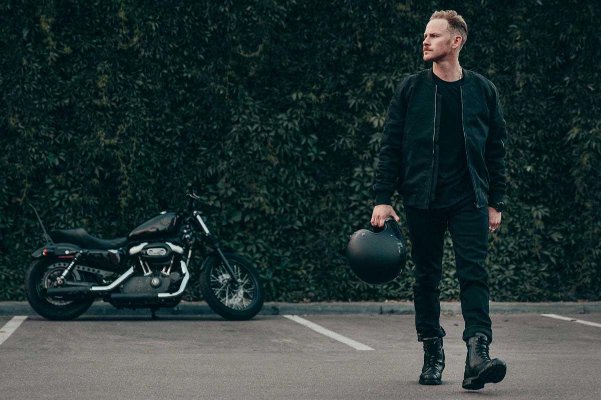 Pando Moto Steel Black Jeans