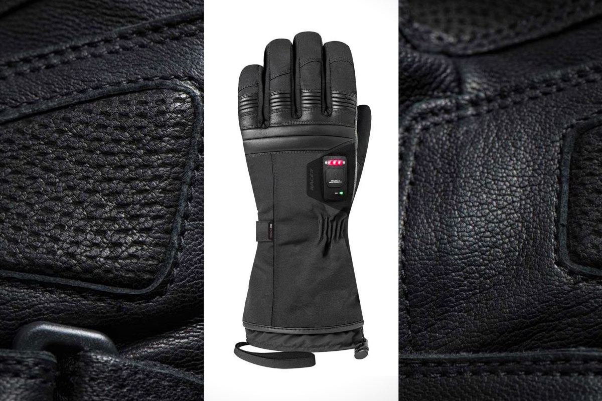 Racer Connectic heated motorcycle gloves