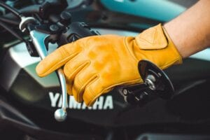 Liberta Cobra Yellow Motorcycle Gloves