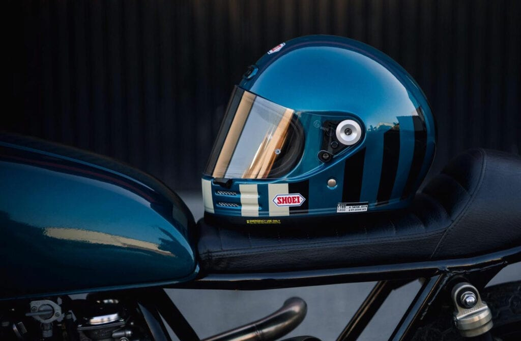 Shoei Glamster cafe racer