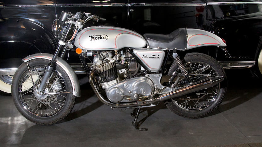 1974 Norton Commando Cafe Racer Replica Side View