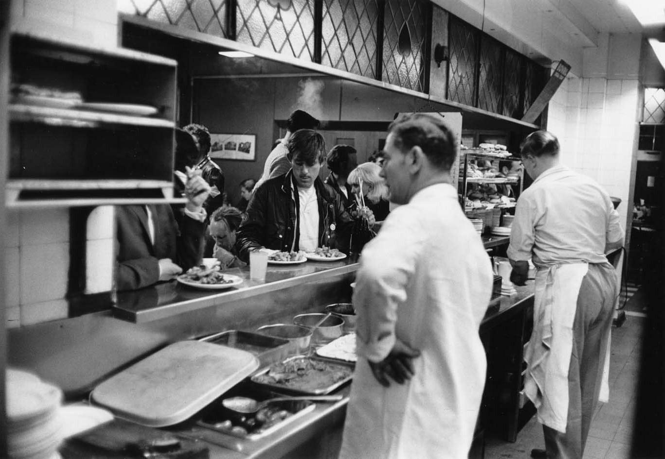 Kitchen of Ace Cafe London 1959