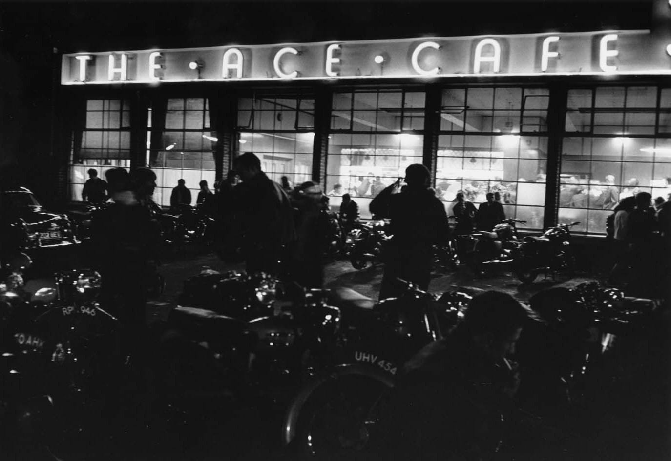 Ace Cafe London at night 1959