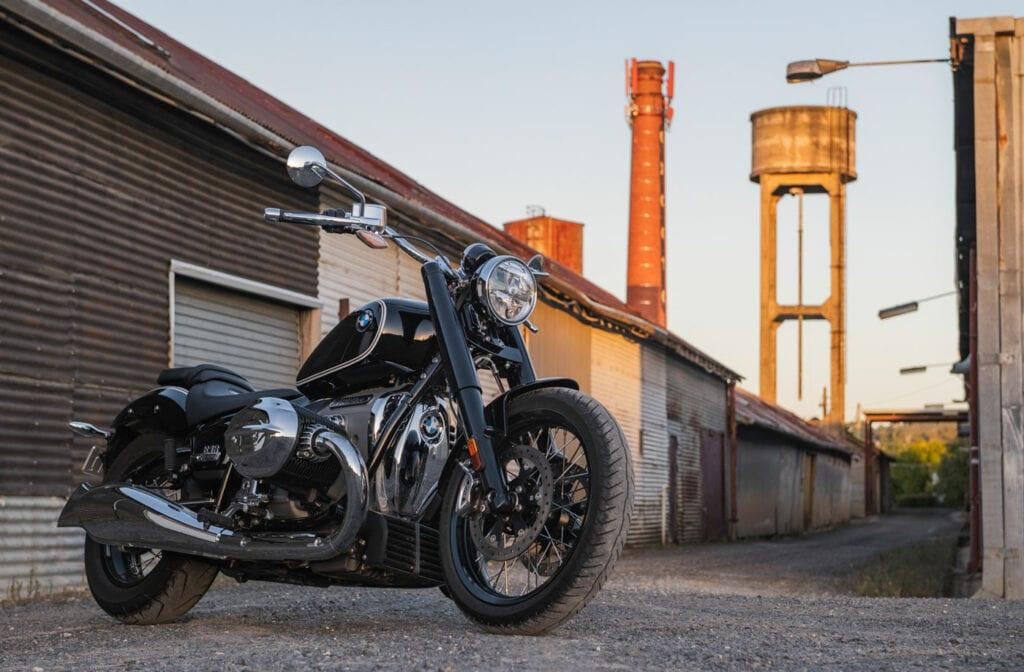 BMW R18 in an industrial yard