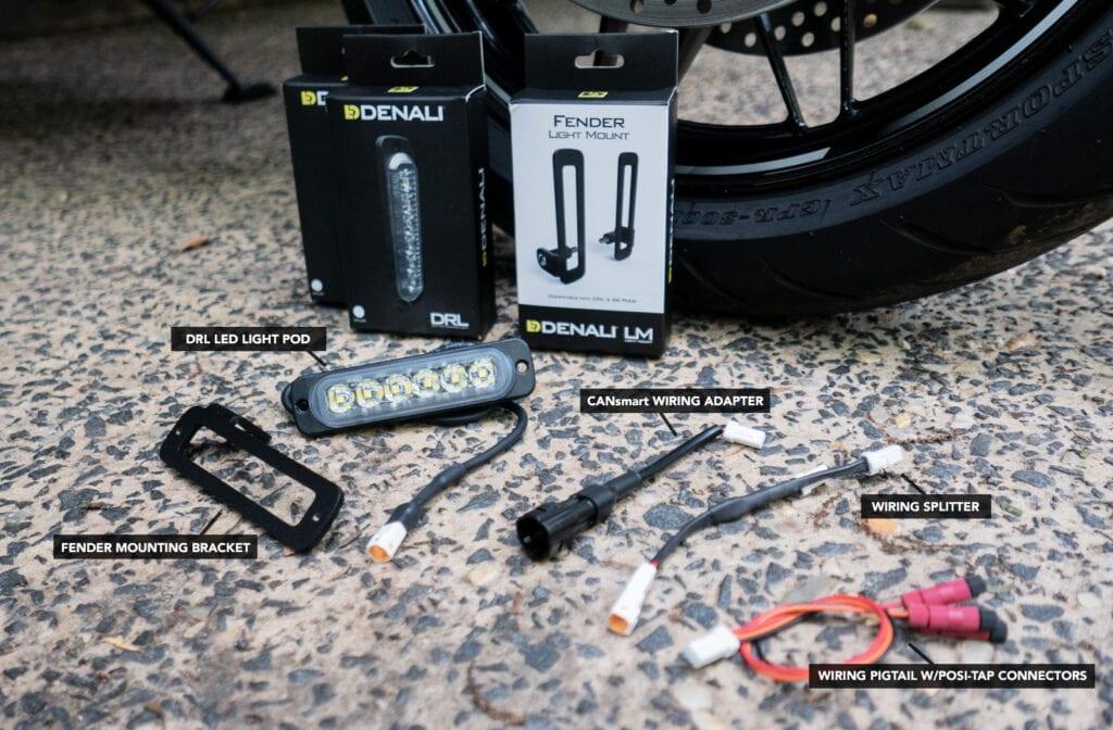 Denali DRL lights fender kit