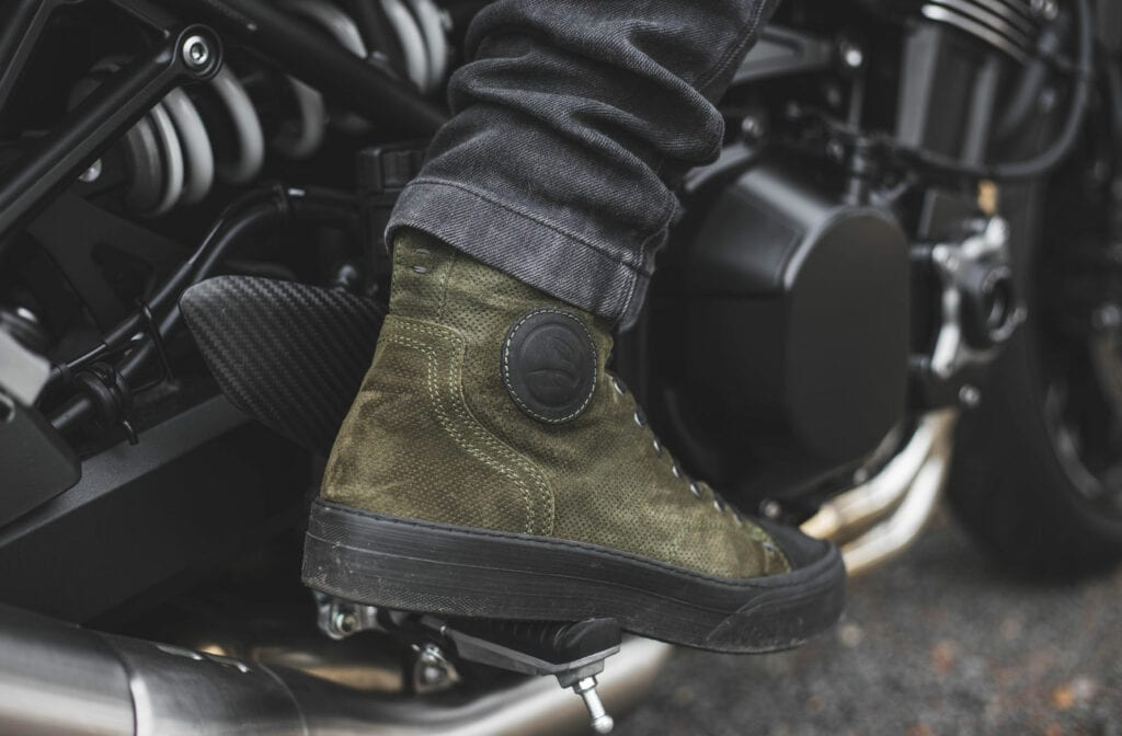 Green Lennox motorcycle trainers